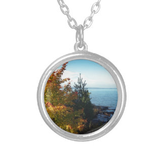 Island Colors, St Joseph Island, Ontario, Canada Silver Plated Necklace