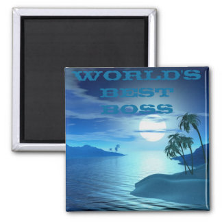 island cove -Worlds Best Boss Square Magnet