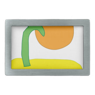 Island Drawing Belt Buckles