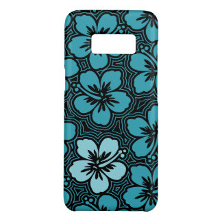 Island Floral Hawaiian Accent Hibiscus Pinstriped Case-Mate Samsung Galaxy S8 Case