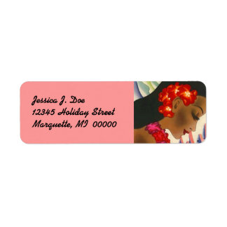 Island Girl Hawaii Hibiscus Return address Label