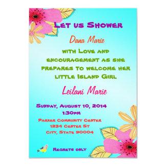 Island girl shower invite