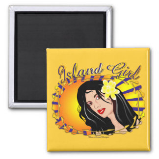 Island Girl Square Magnet
