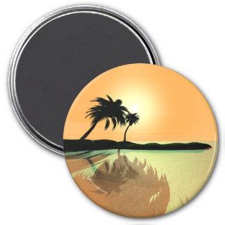 Island Gold 7.5 Cm Round Magnet