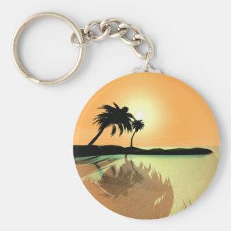 Island Gold Basic Round Button Key Ring