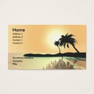 Island Gold - Business Size Business Card