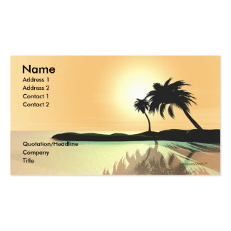 Island Gold - Business Size Pack Of Standard Business Cards