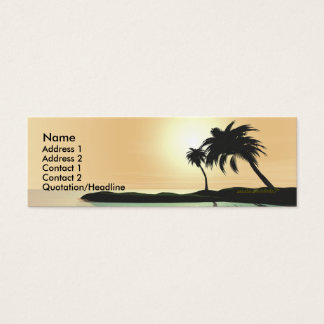 Island Gold - Skinny Mini Business Card