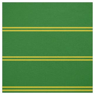 Island green, gold striped design fabric