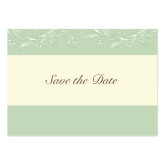 Island Green Tropical Vines Save The Date Cards Business Card Template