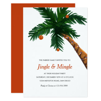 Island Greeting Holiday Party 13 Cm X 18 Cm Invitation Card