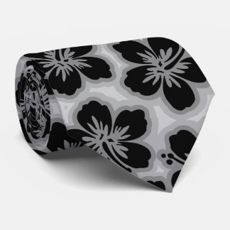 Island Hibiscus Hawaiian Tonal  Two-sided Printed Tie