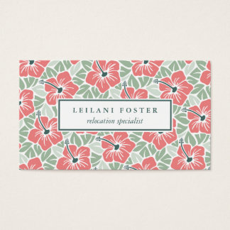 Island Hibiscus Pattern Business Card