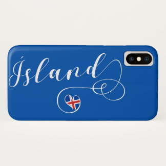 Ísland Iceland Heart Cell Phone Case