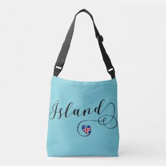 Ísland Iceland Heart Customizable Bag