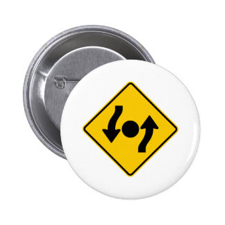Island in Intersection Highway Sign Buttons