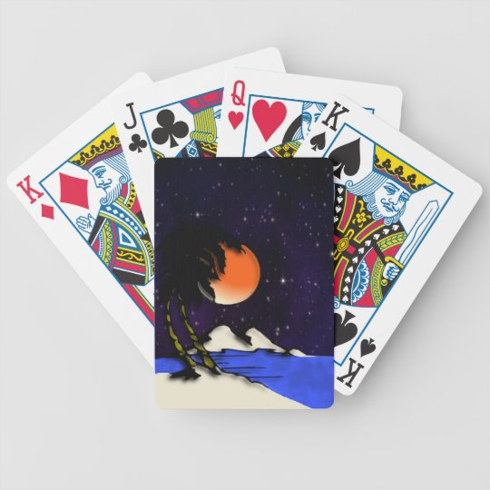 Island Night Design Bicycle Playing Cards