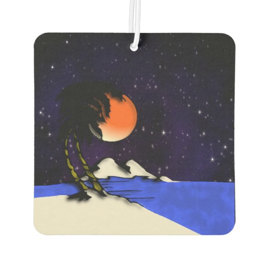 Island Night Design Car Air Freshener