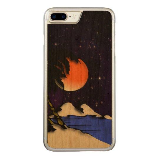 Island Night Design Carved iPhone 8 Plus/7 Plus Case