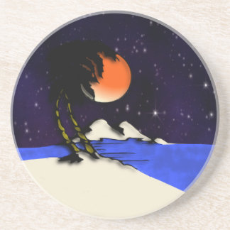 Island Night Design Coaster