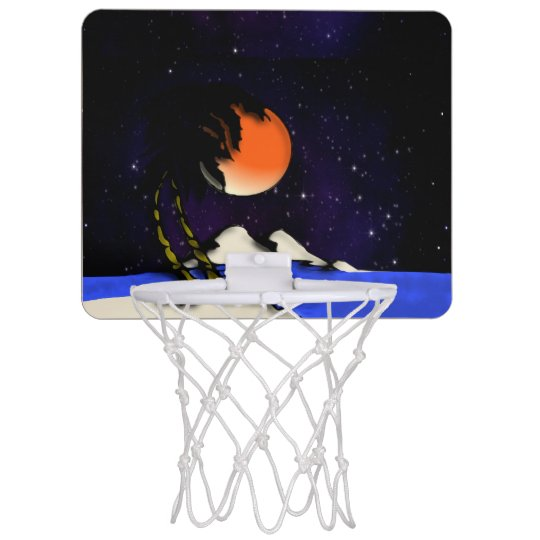 Island Night Design Mini Basketball Hoop