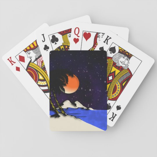 Island Night Design Playing Cards