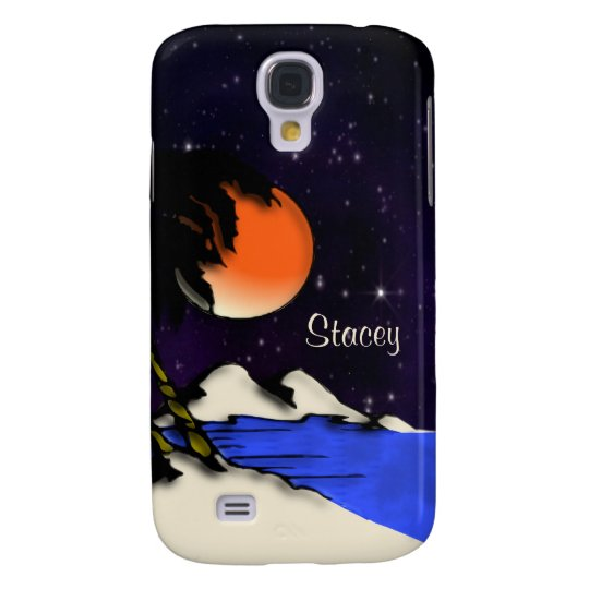 Island Night Personal Samsung Galaxy S4 Cover
