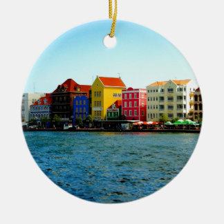 Island of Curacao Design by Admiro Ceramic Ornament