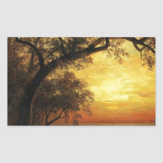 Island Of New Providence By Albert Bierstadt Rectangular Sticker