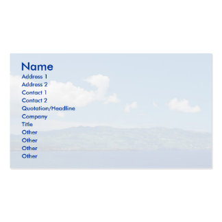 Island on the horizon pack of standard business cards