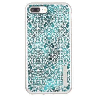 Island Paradise Blue Batik Shibori Damask Incipio DualPro Shine iPhone 8 Plus/7 Plus Case