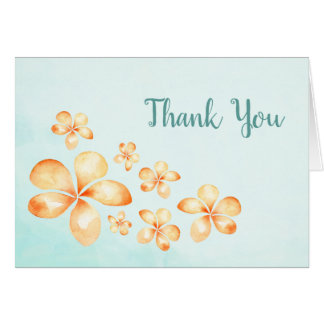 Island Plumeria Thank You Card