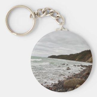 Island reproaches in the Baltic Sea Basic Round Button Key Ring