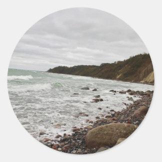 Island reproaches in the Baltic Sea Classic Round Sticker