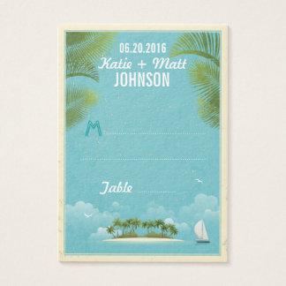 Island Resort Beach Destination Wedding Place Card