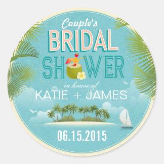 Island Resort Destination Bridal Shower Label