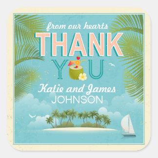 Island Resort Destination Thank You Label