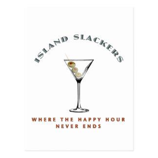 Island Slacker Happy Hour Postcard