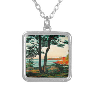 Island Stopover to St Joseph Silver Plated Necklace