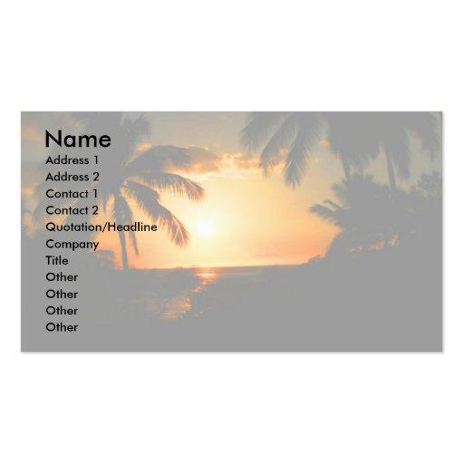 Island Style Hawaii Business Card Templates