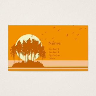 Island Sunset (2) Business Card