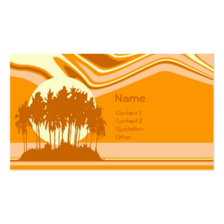 Island Sunset Business Card Template