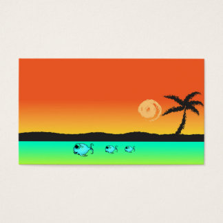 Island Sunset Business Card