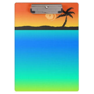 Island Sunset Clipboard