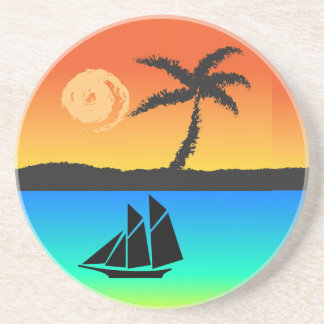 Island Sunset Coaster