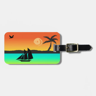 Island Sunset Luggage Tag
