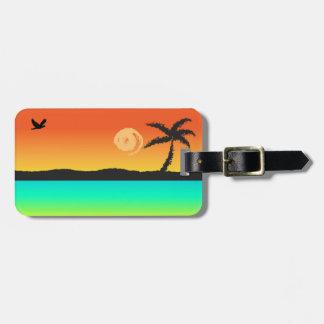 Island Sunset Luggage Tag