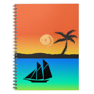 Island Sunset Notebook