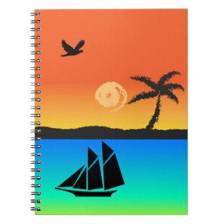 Island Sunset Notebooks