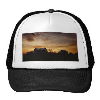Island sunset over the farm cap